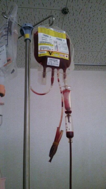 赤血球の輸血(悪性リンパ腫ブログ)